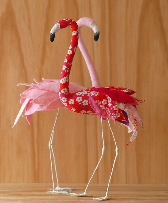 Stuffed Flamingo sewing pattern by AtelierCaroline on Etsy