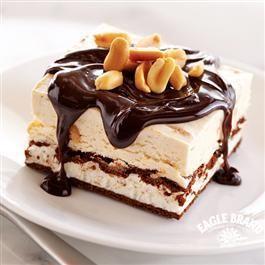 #Chocolate Peanut Butter #IceCream Sandwich Dessert from Eagle Brand® #FathersDay