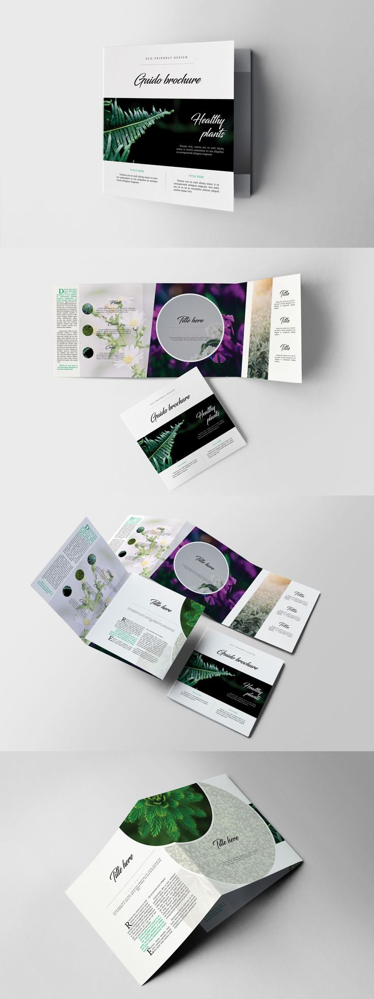 Eco Garden Square Brochure Template InDesign INDD
