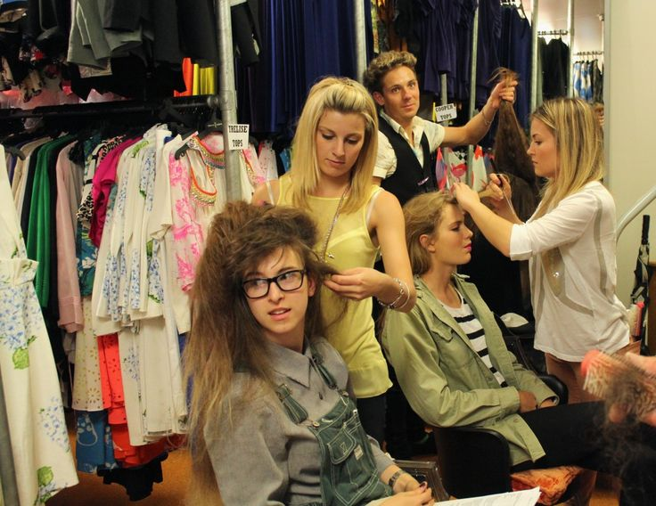 Bettjemans VIP Soirée - A retrospective of runway hairstyles created by Bettjemans in 2013 for brand partner, Trelise Cooper. Behind the scenes - Bettjemans stylists Steph, Sam and Valeria at work.