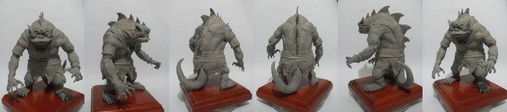 prototipo  reptilio  thundercats  10cm de altura  #escultura #reptilio #arcilla  #gris #modelado #modeling #sculpting #reptilio #thundercats #modeling #splad #prototyping