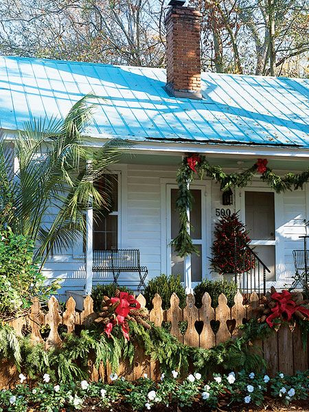 The front porch of this small South Carolina home is