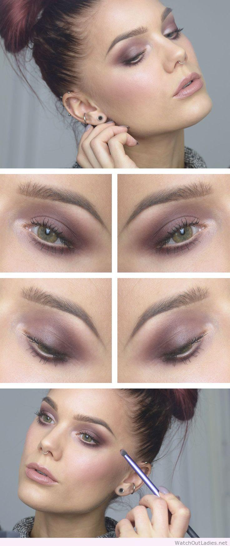 Linda Hallberg interesting makeup for green eyes