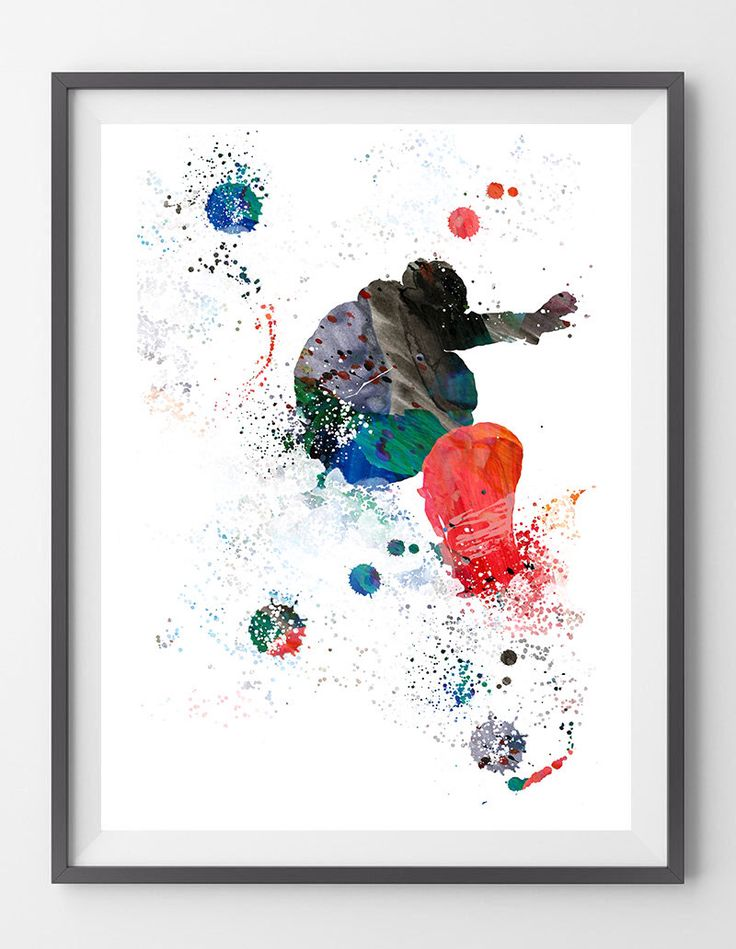 Snowboarder watercolor print Snowboard rider jumping in print snowboard powder poster freeride snowboarding wall art sport art print by MimiPrints on Etsy https://www.etsy.com/listing/514926513/snowboarder-watercolor-print-snowboard