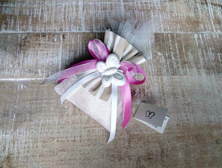 #bomboniere #farfalla #homemade #nascita #battesimo #sacchettino #confetti