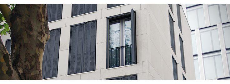 Modelle«Faltschiebeläden«Produkte«EHRET - Alu-Fensterläden und Klappläden, Fensterladen und Klappladen aus Aluminium