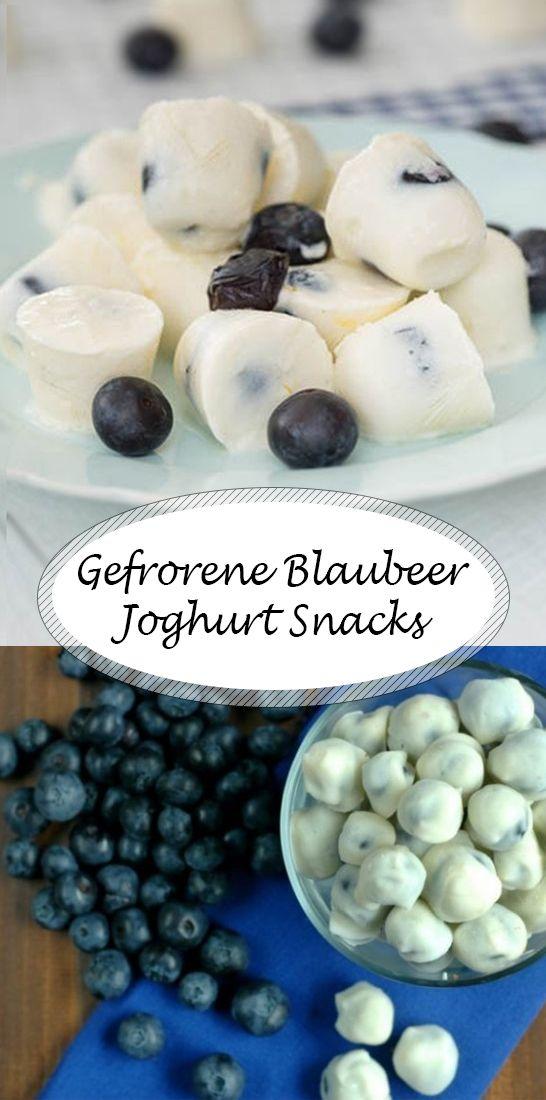 Gefrorene Blaubeer-Joghurt Snacks