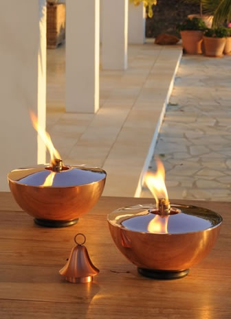 Monte Carlo Oil Lamp From Posh Garden Furniture, Available In Shiny Copper  Or Stainless Steel