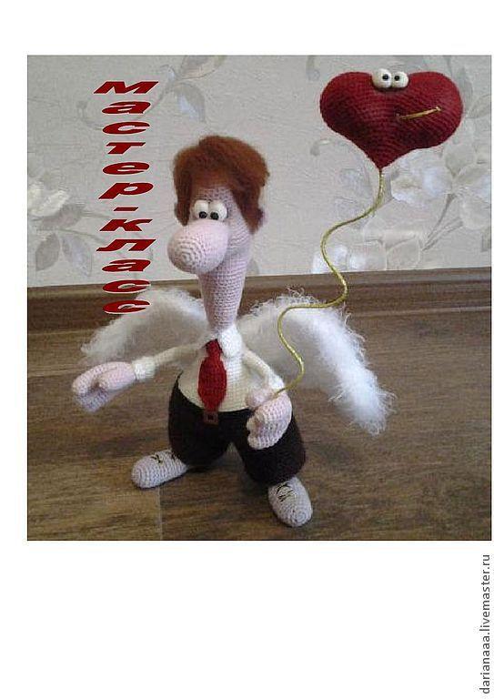 """Купить Мастер-класс по вязанию """" Валентин-Дарящий любовь!!!!!"""" - ярко-красный, мастер-класс"""