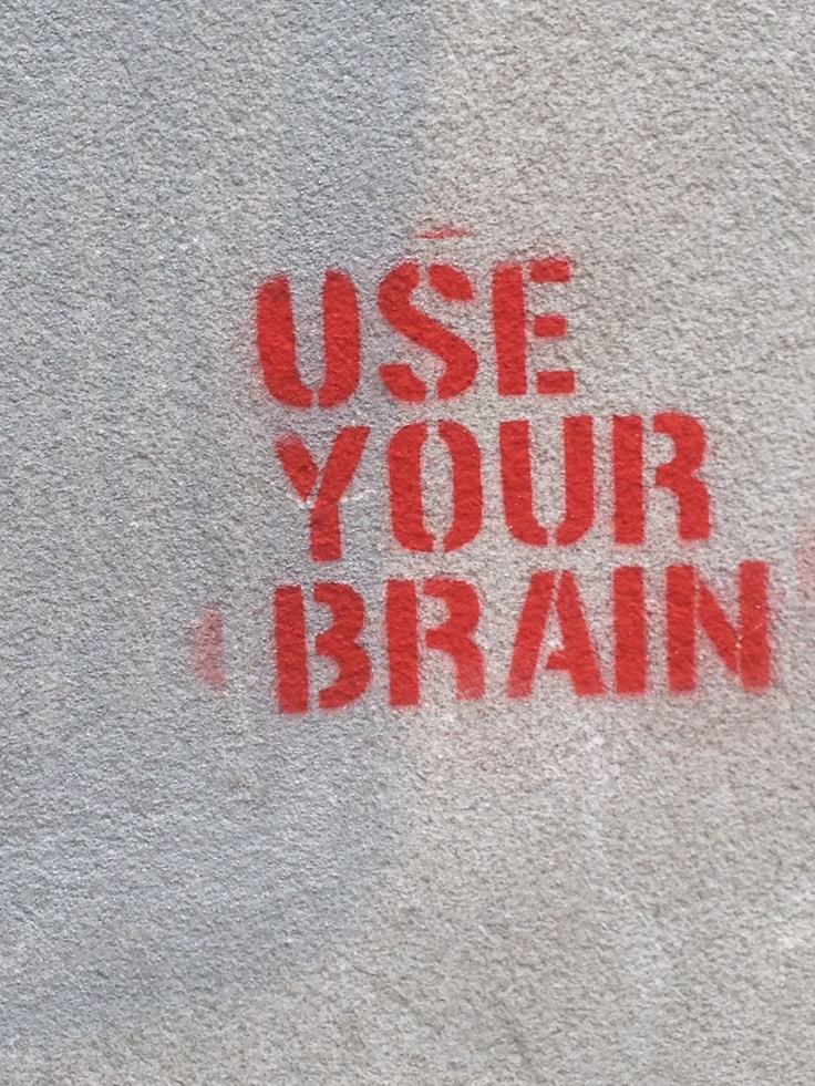 The stenciled graffiti in Frankfurt-Sachsenhausen says it all...