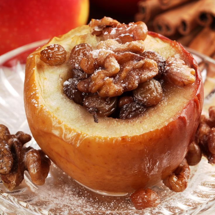This Air Fryer Bakes Apple is raisin-topped, walnut-stuffed, hot dessert masterpiece. Get the sinfully sweet recipe from Nutrisystem here.