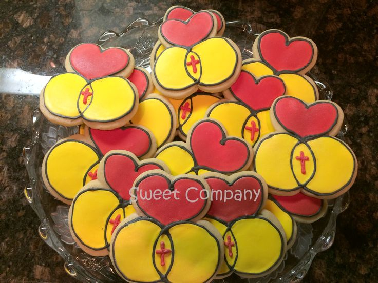 Cookies for a World Wide Marriage Encounter Meeting by #sweetcompanycakes