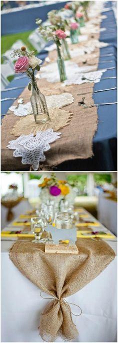 DIY con tela de saco. Visto en www.ecodecomobiliario.com
