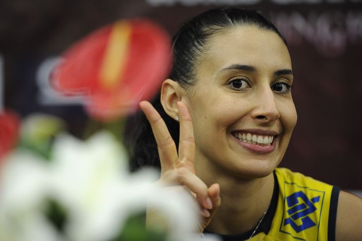 Sheilla Castro at the press conference after the match BRA-THA at World Grand Prix 2012