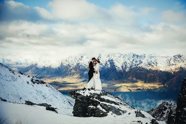 The top 10 Mountain-top locations for your spectacular Queenstown New Zealand Wedding via Truly and Madly