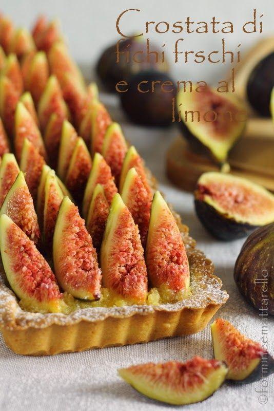 formine e mattarello: Crostata di fichi freschi con crema al limone