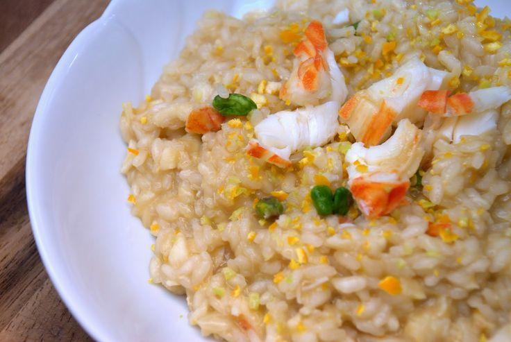la gallina vintage: riso aragosta e pesto di agrumi