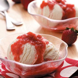 Slow Cooker Strawberry Rhubarb Sauce Recipe from Taste of Home