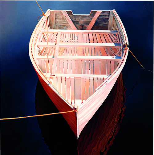 Mary Pratt, Tied Boat Mary Pratt, Tied Boat (1980), oil on Masonite, 45.7 x 45.7 cm. Private collection. Photography: Ned Pratt, St. John...