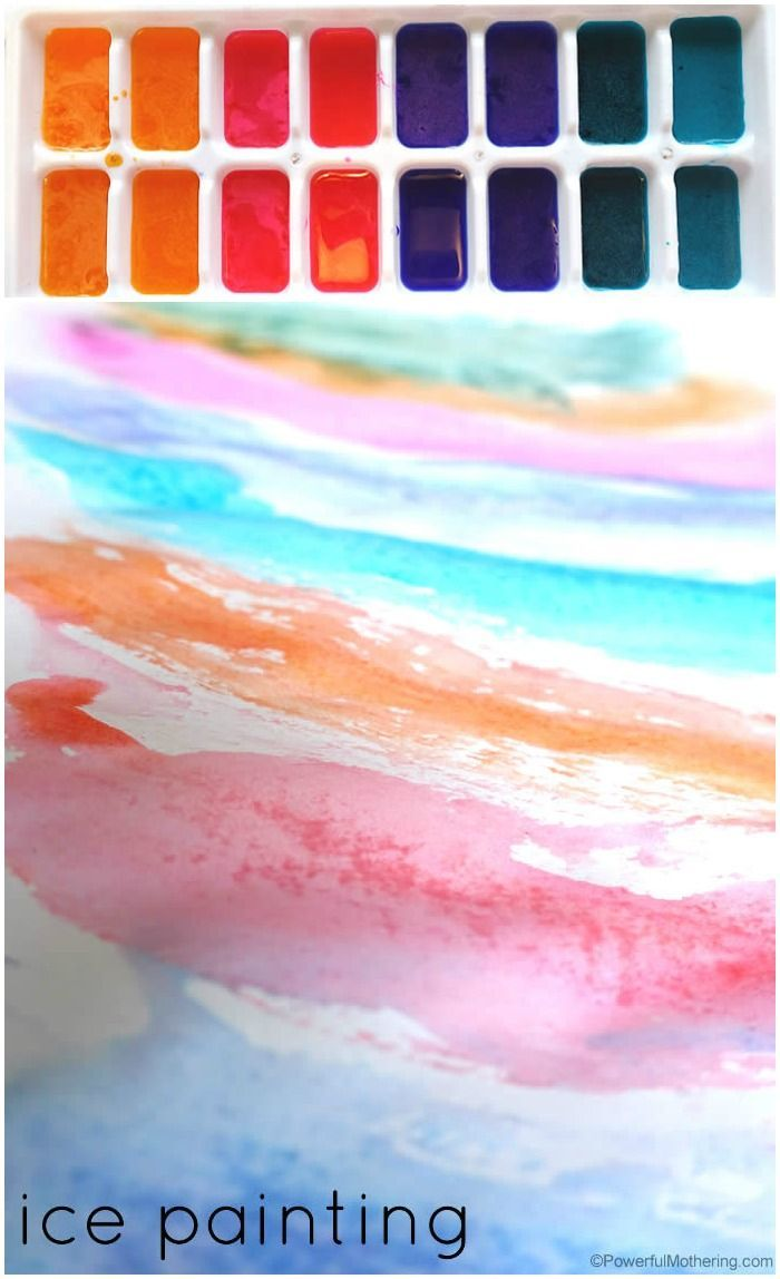 Explore ice painting art with your toddler and preschooler! Easy to make with tips on making your ice painting the best of fun!