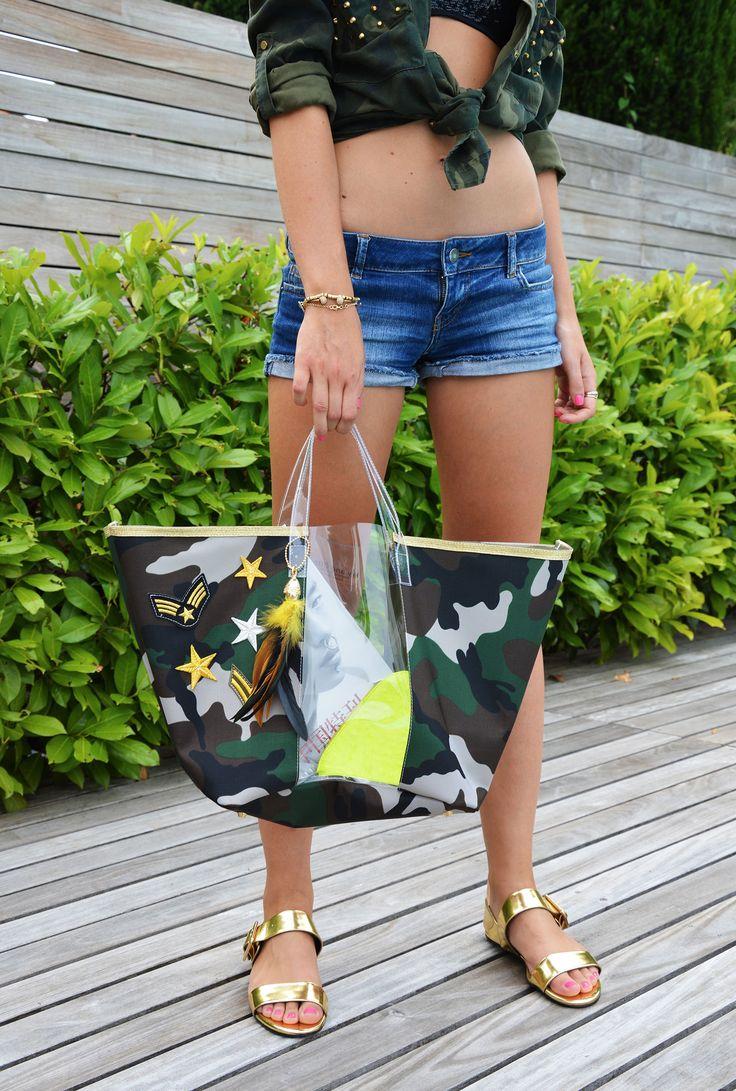 Borsa Mare Trasparente/ Tessuto Camouflage http://bit.ly/WaOmare