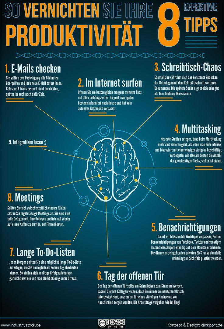8 Tipps für mehr Produktivität