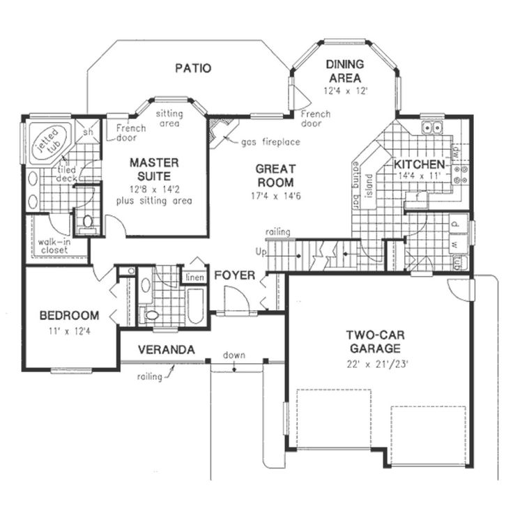 Functional 2 bedroom 39 empty nester 39 main floor house Functional house plans
