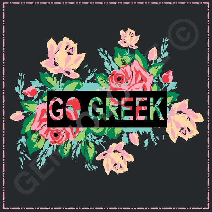 Geneologie | Greek Tee Shirts | Greek Tanks | Custom Apparel Design | Custom Greek Apparel | Sorority Tee Shirts | Sorority Tanks | Sorority Shirt Designs | Sorority Shirt Ideas | Greek Life | Hand Drawn | Sorority | Sisterhood | Go Greek | Panhellenic | Floral