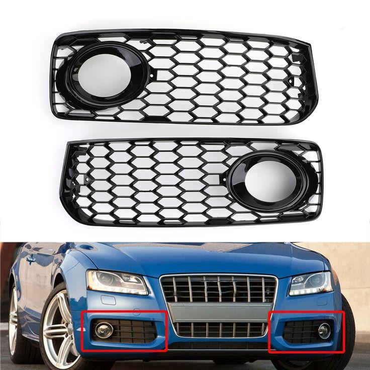2x Honeycomb Fog Light Grilles Trim For Audi A5 S Line S5 B8 Rs5 2008 2012 Black Audi A5 Audi Grilles
