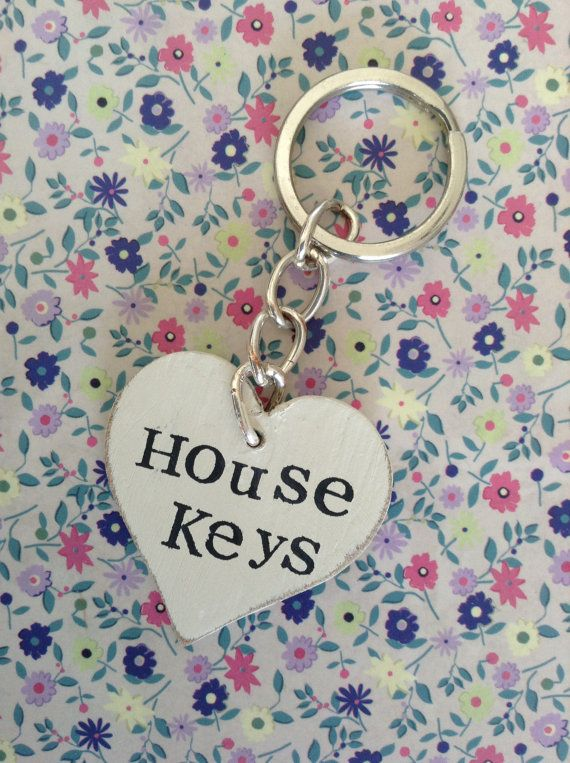 Wooden heart key ring | Personalised
