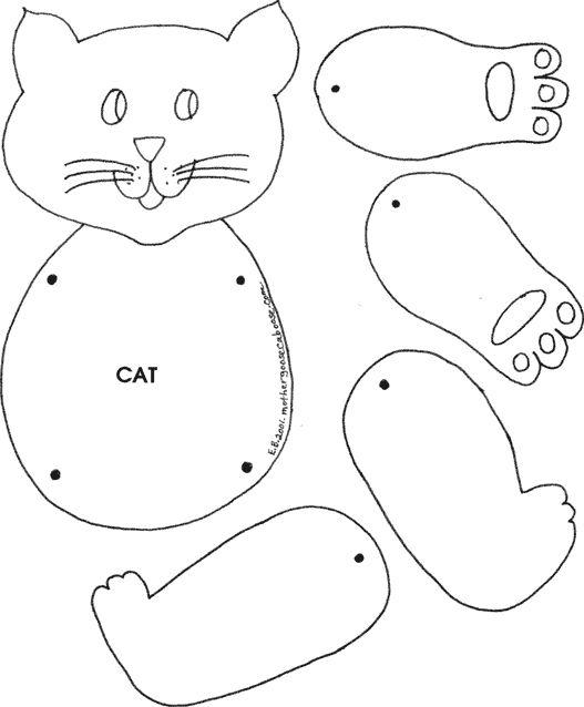 printable felt animal patterns cat cat puppet things that caught my eye 3 pinterest. Black Bedroom Furniture Sets. Home Design Ideas