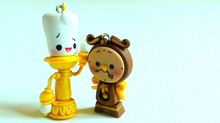 Lumiere & Cogsworth From Beauty and the Beast Tutorial (Polymer Clay)