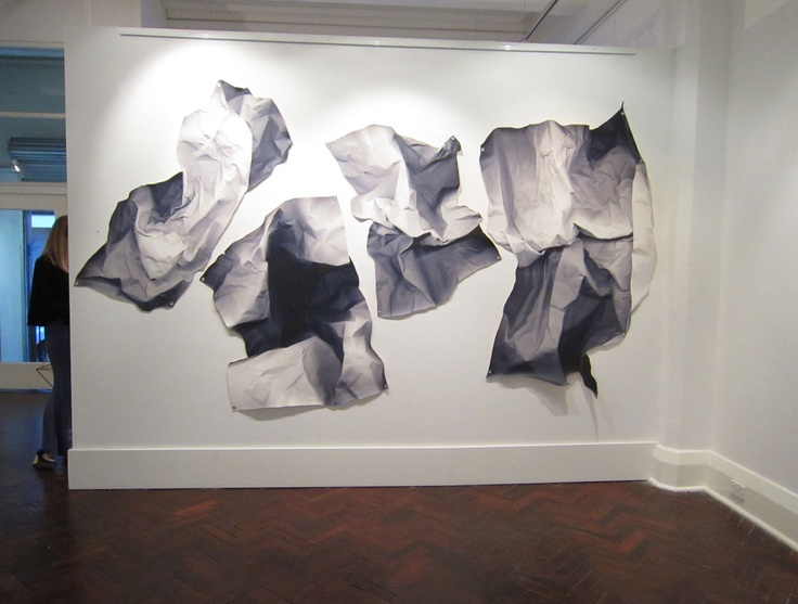Richard Blackwell : flat wall sculptures- looks like crumpled paper!