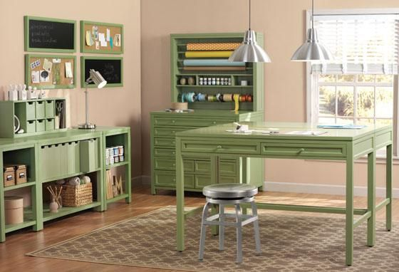 Laundry, Craft, and Sewing Room.  Martha Stewart Craft Space Collection