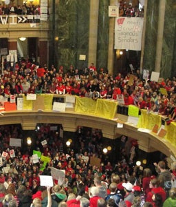 Wisconsin - this is what happens when you take away the rights of people who raise and protect our children!