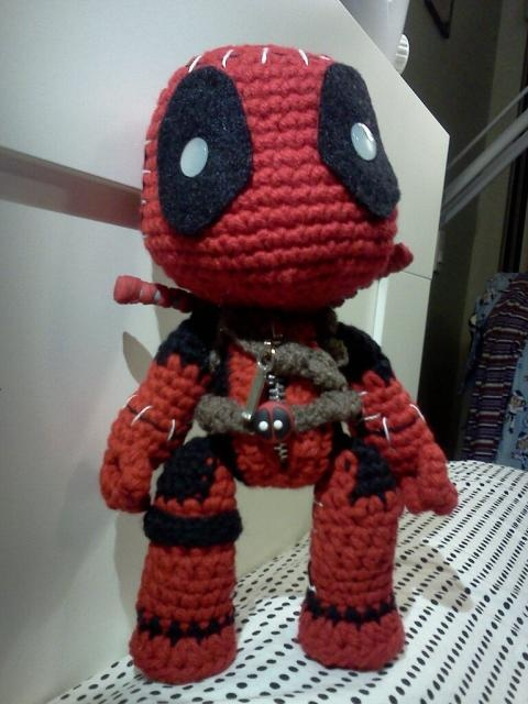 Deadpool Sackboy with polymer clay swords | Sackboys ...