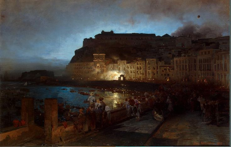 FIREWORKS IN NAPLES, BY OSWALD ACHENBACH
