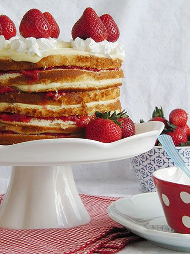 This recipe for strawberries and custard icebox cake requires some effort, but with homemade pound cake carefully layered between vanilla bean custard and fresh strawberry jam filling, it's well worth it.