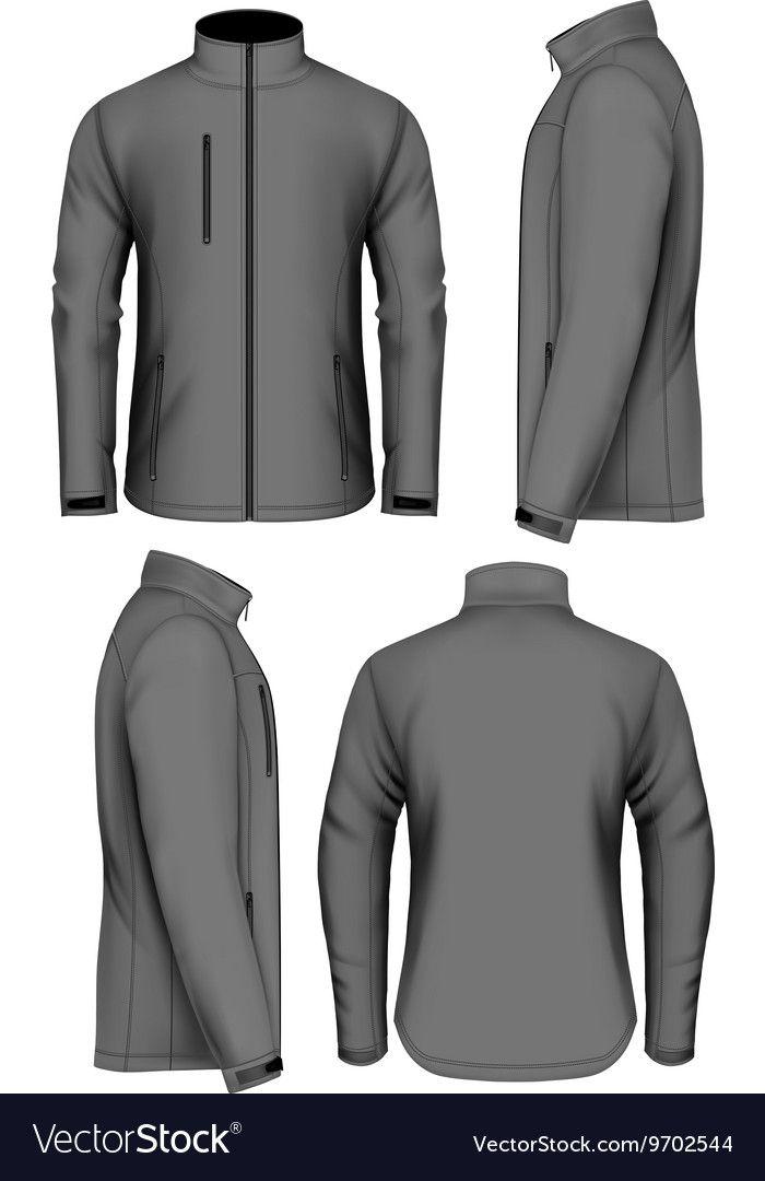 Men Softshell Jacket Design Template Royalty Free Vector Ad Jacket Design Men Softshell Ad Polo Shirt Design Jacket Design Mens Flight Jacket