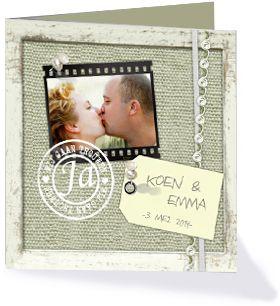 Trouwkaart uit de collectie 'Echte Liefde'
