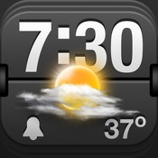 Weather Clock Pro  By iHandy Inc.    Weather Clock Pro is not only the perfect combination of a weather tracker with alarm, but also a fully-featured alarm clock with music alarms, built-in flashlight and the ability to add your own customizable photo backgrounds