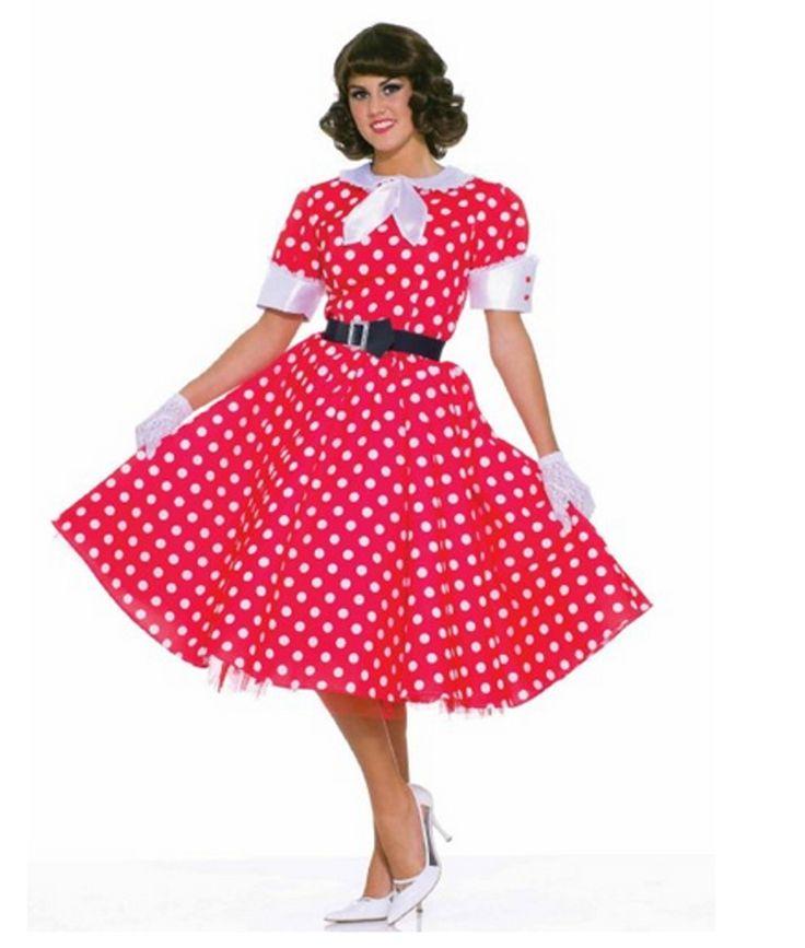 50er Jahre Hausfrauen Rockabilly Rock´n Roll Kleid mit Petticoat Damenkostüm