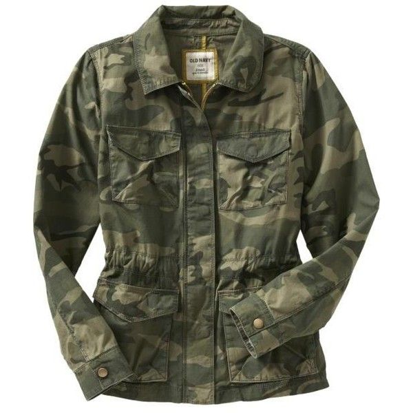 Old Navy Womens Surplus Jackets ($25) ❤ liked on Polyvore featuring outerwear, jackets, tops, coats & jackets, shirts, women, surplus jacket, cinch jackets, zipper jacket and flower print jacket