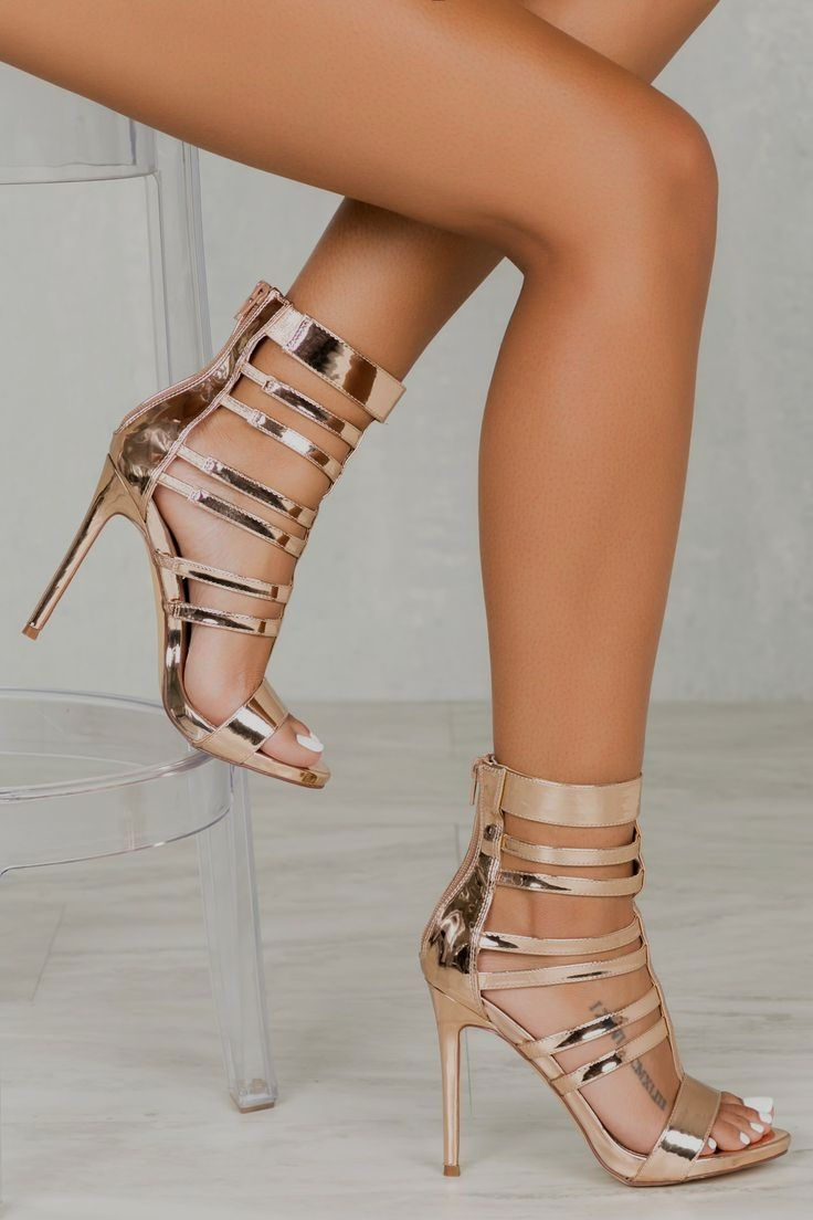 7f65ce12884f Valery Caged  Heel in Rose Gold cute  heels classy