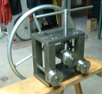 Building a three roll tubing bender?