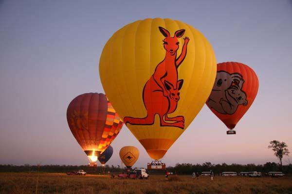 Hot air balloon tour over the Gold Coast