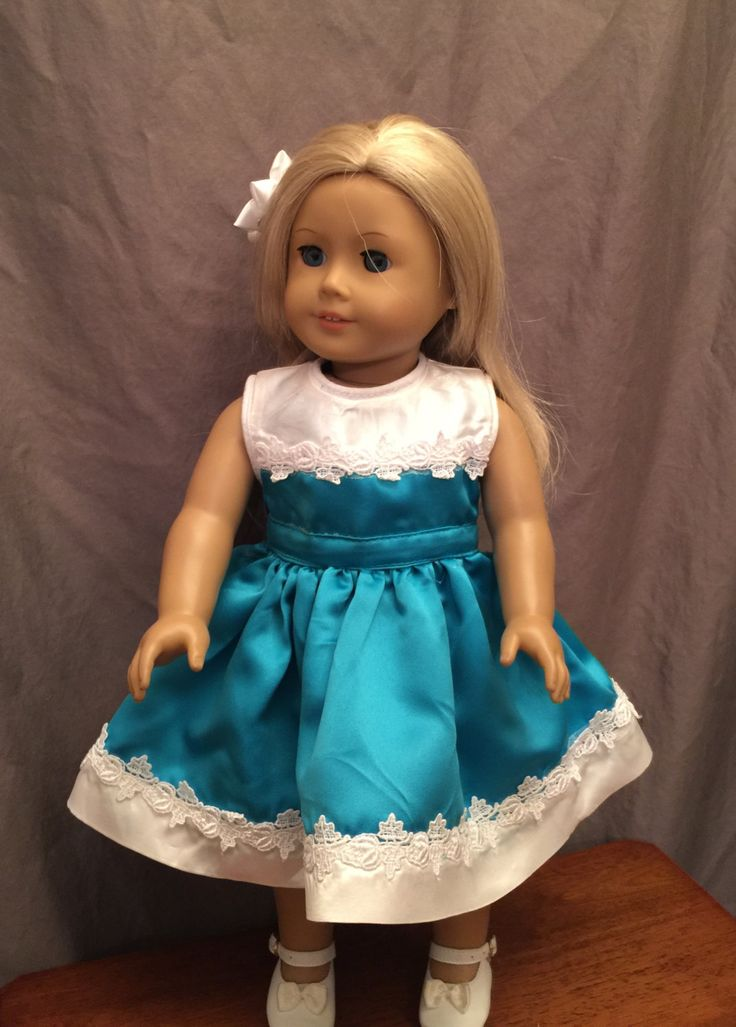 homemade Doll Dress Fitted For 18 Inch Soft Body Dolls Like American Girl And…