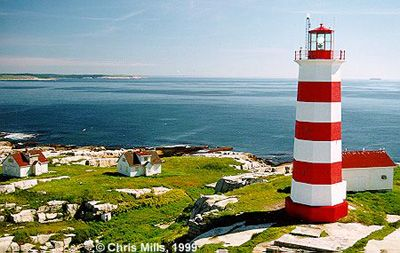 Sambro Lighthouse built in 1758 is the oldest standing and operating lighthouse in the Americas. Nova Scotia, Canada