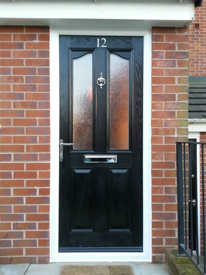 A new #front #door. Half glazed black composite door from our \u0027beautiful & 81 best Black Front Door images on Pinterest | Black front doors ... Pezcame.Com