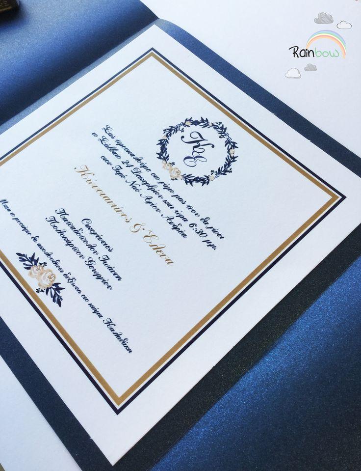 Ιδιαίτερη πρόσκληση γάμου σε αποχρώσεις #Royalblue με μεταλλικό χαρτί💍💙👰🤵 #weddinginvitations #metalicpaper #invitation #royalinvitation #rainbow_eshop
